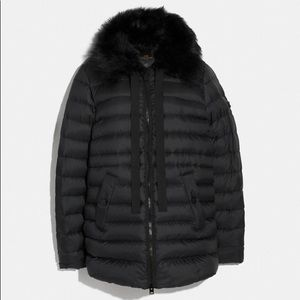 Puffer down jacket coat coach